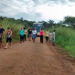 Chegada na tribo Terena